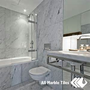 Carrara Marble Bathroom Designs by Bathroom Design With Bianco Carrara Marble Tile From Www