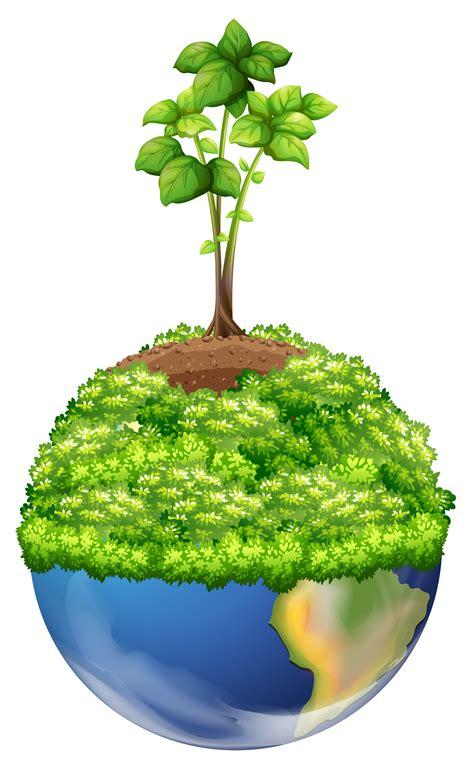 green plants  earth   vectors clipart