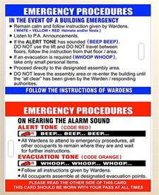 emergency procedures template nz products direct warden and extinguisher