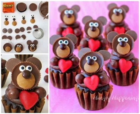 teddy valentines day valentines day teddy cupcakes pictures photos and