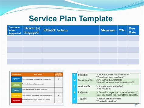 service plan template success story planned service for