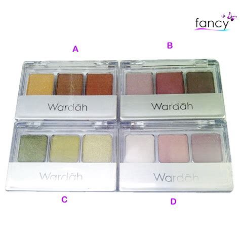 Eye Shadow Merk Wardah jual wardah eye shadow fancy grosir