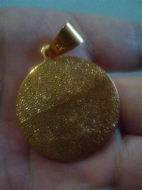 Perhiasan Kalung Nama Arab Liontin Gold Jual Liontin Bentuk Koin Emas Tulisan Arab Allah