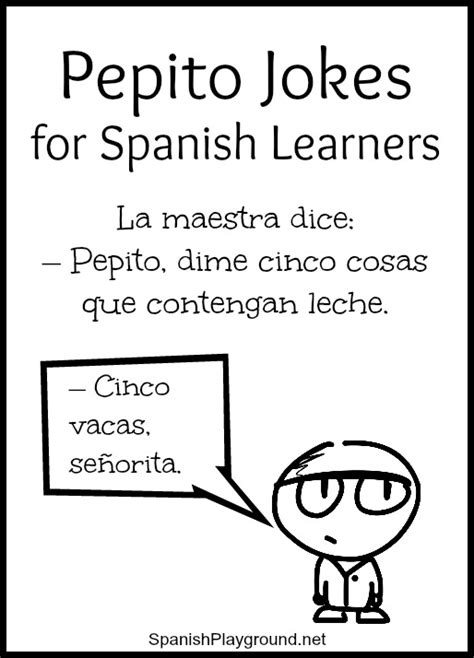 spanish short stories for beginners 8 modern hilarious pepito jokes for spanish learners spanish playground