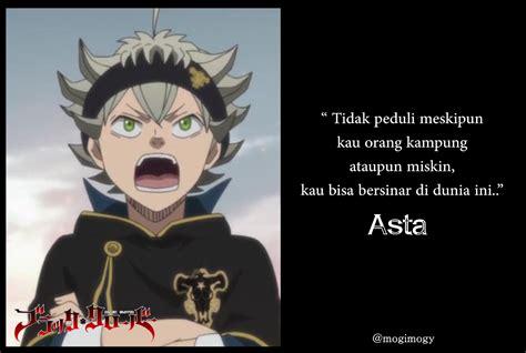 kata bijak  keren karakter anime black clover mogimogy