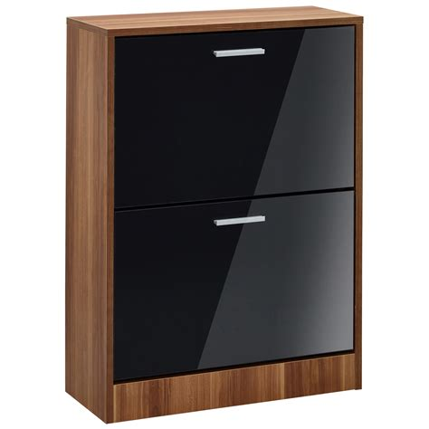 walnut shoe storage cabinet high gloss walnut finish shoe storage cupboard cabinet