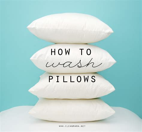 How To Wash Bed Pillows by How To Wash Pillows Clean