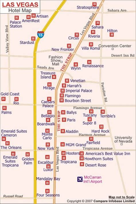 hotel layout on the las vegas strip blog pictures vegas hotel map