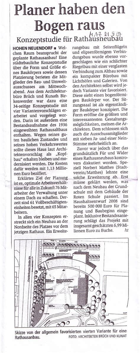 Hn Leher Leher rathaus hohen neuendorf