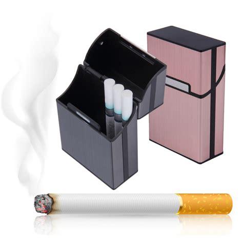 cigarette storage containers 1pcs light aluminum cigar cigarette tobacco holder