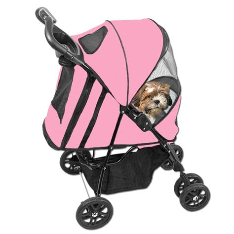 yorkie stroller happy trails stroller pink at baxterboo