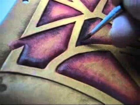 How To Color Leather by Brush Dyeing Leather