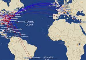 us airways route map international routes