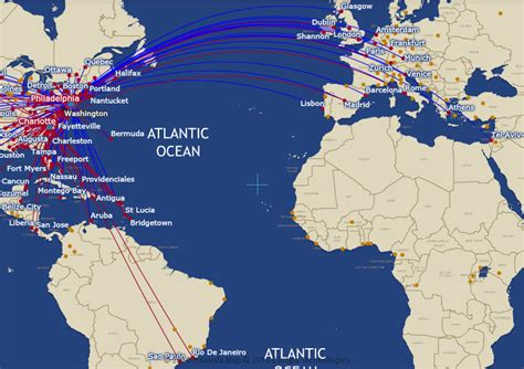usair route map us airways route map international routes