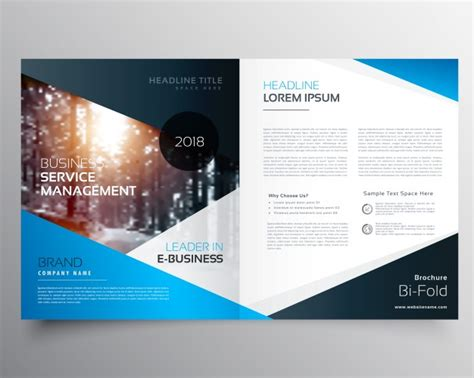 free e brochure templates ebrochure templates free blue business brochure template