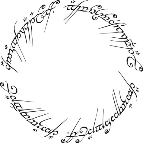 tattoo letters lord of the rings lord of the rings the one ring decorative stencil multiple