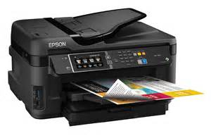 Printer Epson Scan Fotocopy epson workforce wf 7610 all in one color printer scanner copier wi fi direct ebay