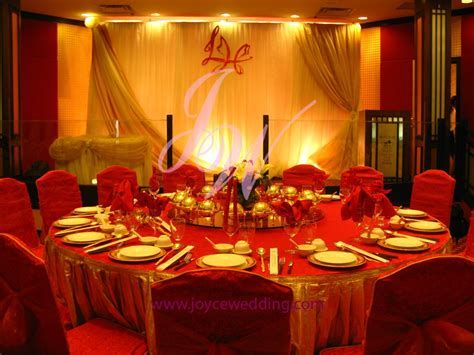 #Red and #Gold Wedding #Decoration   I
