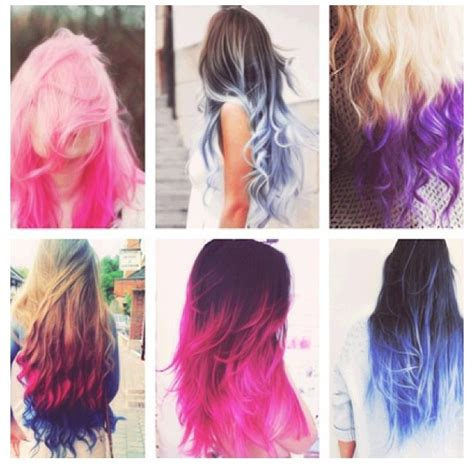 embry hair dying style different styles of dip dyed hair fashion