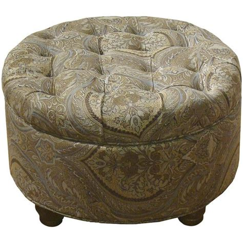 round ottomans furniture roslyn tufted round storage ottoman 150 liked on