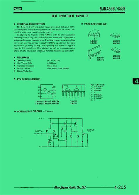 Jrc4558d 4558d Jrc4558 Smd Sop 8 jrc4558d 368305 pdf datasheet ic on line