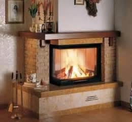 two sided brick corner fireplace dessign family