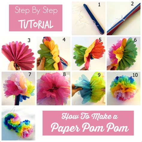 How To Make A Tissue Paper Step By Step - 35 tissue paper pom poms guide patterns