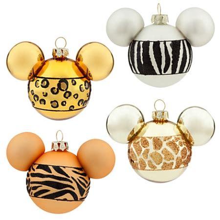printable mickey mouse ornaments disney christmas ornament set mickey animal print set of 4