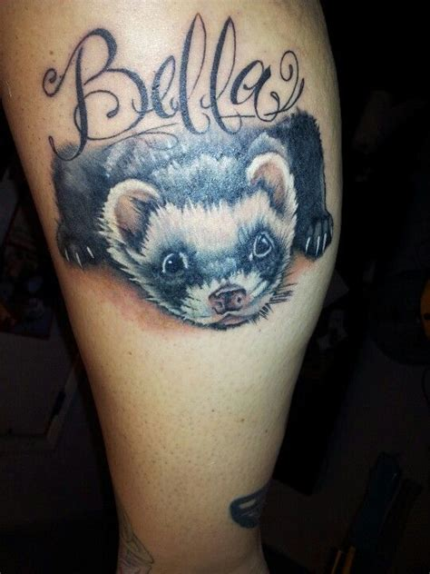 ferret done by shannon it tattoos