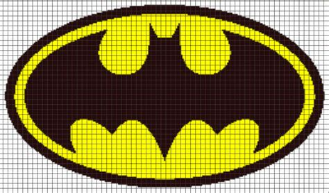 crochet pattern batman logo batman logo graphghan pattern by yarnloveaffair craftsy