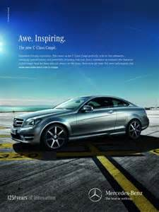 Mercedes Print Ads Mercedes C Class Coupe Quot Awe Inspiring Vertical