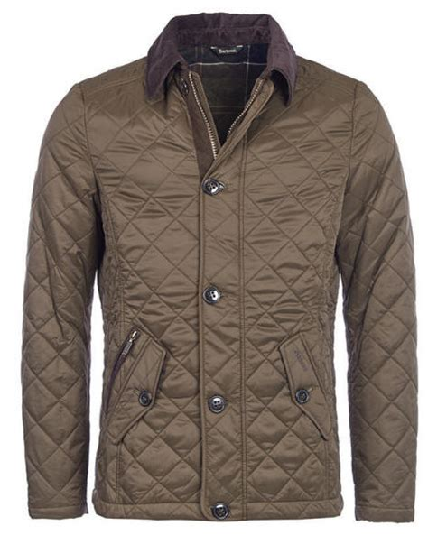 Quilted Mens Jackets Uk by Barbour Mens Fortnum Quilted Jacket Olive Mqu0692ol71