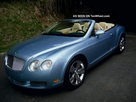 2007 bentley gtc 2007 bentley continental gtc convertible 2 door 6 0l