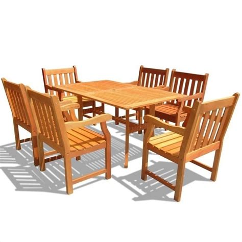 Wooden Patio Dining Sets Atlantic 7 Wood Patio Dining Set V187set24