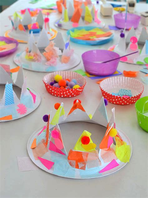 How To Make Paper Hats For Children - paper plate hats artbar