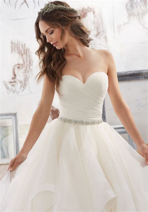 Wedding Dresses Pictures And Prices by Beaded Organza Belt Style 11254 Morilee