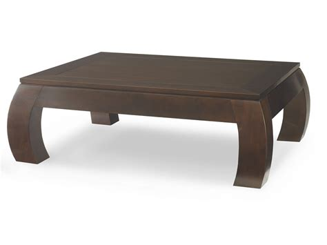 Chow Rectangle Cocktail Table, Wood Top   Dering Hall