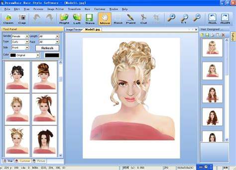 Hairstyle Preview Software by Filegets Dreamhair Screenshot Dreamhair Hair Style