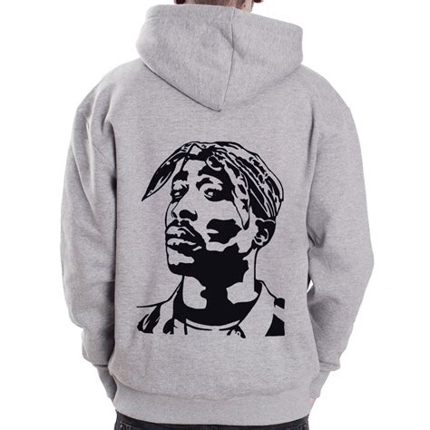 tupac zip tupac face 2pac rap hip hop grey zip hoodie hoody