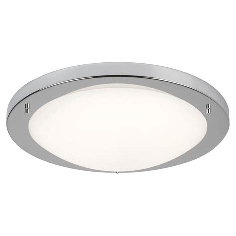 led flush fitting bathroom ceiling light opal glass with chrome ring searchlight lighting led flush large bathroom ceiling fitting in satin silver finish with opal