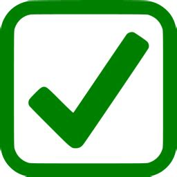 Green checked checkbox icon - Free green check mark icons