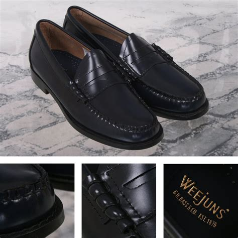 league loafers bass weejuns classic league leather loafer shoe