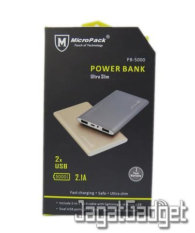 Power Bank Kapasitas 5000mah review power bank micropack pb 5000 jagat gadget