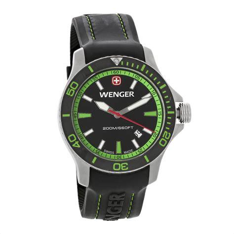Swiss Army Rubber I Black Green wenger mens sea black green rubber quartz