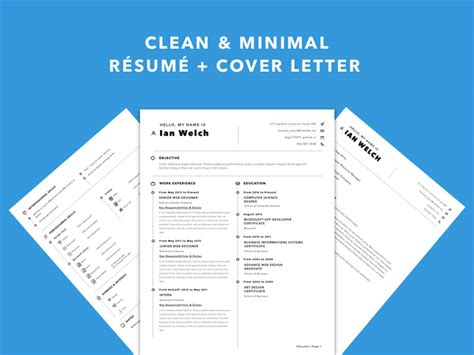 Free Simple Sketch Resume Template With Matching Cover Letter Free Matching Cover Letter And Resume Templates
