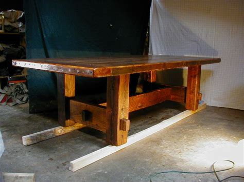 Build A Rustic Dining Table Rustic Plank Dining Table Plans Woodideas