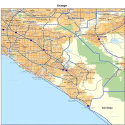 orange county ca california maps map of california