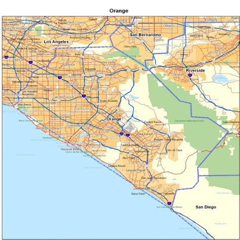 map of orange county orange county images