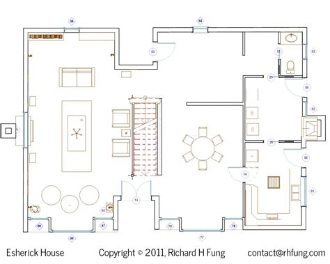 Blueprint For House Richard H Fung Esherick House