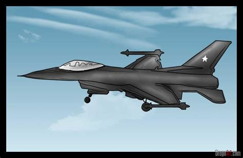 how to draw a jet step by step jets transportation